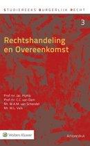 Boek cover Studiereeks burgerlijk recht 3 - Rechtshandeling en overeenkomst van Jac. Hijma (Hardcover)