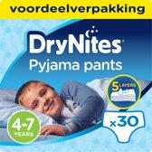 Huggies DryNites absorberende nachtbroekjes | BOYS | 4 - 7 jaar | 3 x 10 stuks