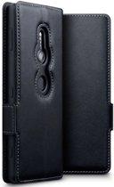 Sony Xperia XZ2 hoesje - CaseBoutique - Zwart - Leer