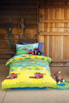 Hiccups Kids down on the farm 1-persoons dekbedset - Wit 140x200cm