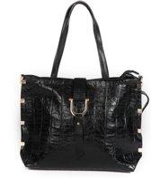 Adventure Bags Croco Tote Shopper Zwart