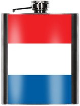 Heupfles Franse vlag 200 ml - Frankrijk heupflacon