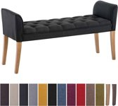 Clp Cleopatra - Chaise longue - Stof - donkergrijs antiek donker