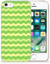 iPhone SE | 5S TPU Hoesje Design Waves Green