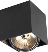 QAZQA Box - Opbouwspot - 1 Lichts - Zwart