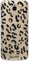 Casetastic Softcover Samsung Galaxy J6 (2018) - Leopard Print Black