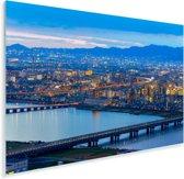 Stadsgezicht van Osaka in Japan tijdens de schemering Plexiglas 90x60 cm - Foto print op Glas (Plexiglas wanddecoratie)