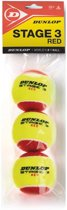 Dunlop STAGE 3 RE3POLYBAG - Geel/Rood - Tennisballen