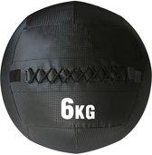 RS Sports Wallball - 1x 6 kg - PVC - Zwart - geschikt voor Crossfit en Fitness