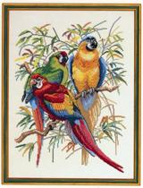 borduurpakket 12-292 papegaaien