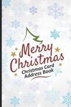 Merry Christmas Christmas Card Address Book
