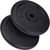 ScSPORTS® 30 kg Halterschijven set gietijzer 30 mm 2x15 kg