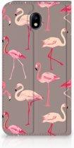 Samsung Galaxy J7 2017 | J7 Pro Uniek Standcase Hoesje Flamingo