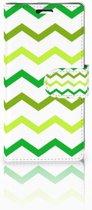 LG Spirit Uniek Boekhoesje Zigzag Groen