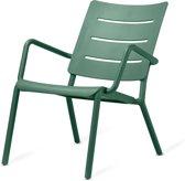 TOOU OUTO Lounge armchair - Kunststof tuinstoel - Donkergroen