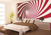 Fotobehang Design, Slaapkamer | Rood, Wit | 208x146cm