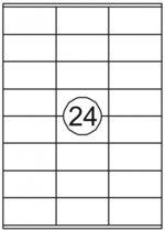 A-Series zelfklevende etiketten - 70x37mm - wit - 24 etiketten per vel - 100 vellen