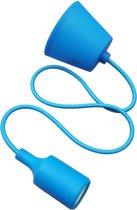 LED lamp DIY   pendel hanglamp - strijkijzer snoer   E27 siliconen fitting   blauw