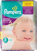 Pampers Active Fit - Jumbo Pack - Maat 5 Jumbo Pack - 48 Luiers