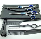 Kappersschaar Set -Blue Diamond 6.0 inch + razor