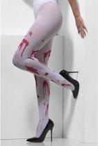 Bloederige panty voor volwassenen Halloween panty met bloed bloedvlekken- Verkleedattribuut