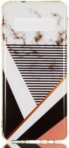 Samsung Galaxy S10 TPU Back Cover met Marmer Print Strepen