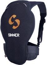 SINNER Castor Spine Protector D3O - Rugbescherming wintersport - Volwassenen - Maat S - Zwart