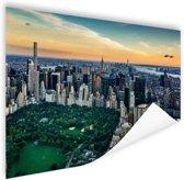 Central Park New York luchtfoto Poster 60x40 cm - Foto print op Poster (wanddecoratie woonkamer / slaapkamer) / Steden Poster