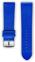 Blauwe (royal) lederen horlogeband (made in France) Frans leder 20 mm