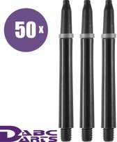 ABC Darts Shafts - Kunststof Zwart - Medium - 48 sets