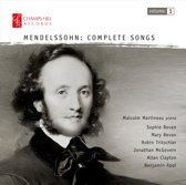 Mendelssohn: Complete Songs, Vol. 1