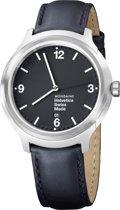 Mondaine Bold MH1.B1220.LB Horloge - Leer - Zwart - Ø43 mm