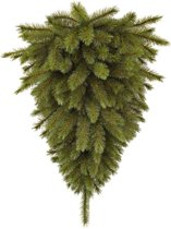 Triumph Tree forest frosted halve plafond kunstkerstboom maat in cm: 90 groen