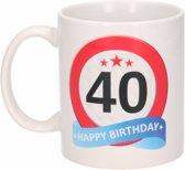 Verjaardag 40 jaar verkeersbord mok / beker