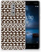 Nokia 8 Uniek TPU Hoesje Aztec Brown