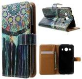 Tex Print Wallet Hoesje Samsung Galaxy Ace 4 G357FZ