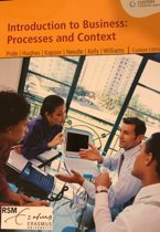 Custom Introduction to Business: Processes and Context