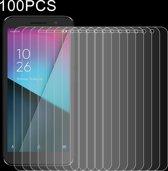 100 STKS 0.26mm 9H 2.5D Explosieveilige geharde glasfolie voor Vodafone Smart E9