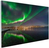 Noorderlicht in Tromso Glas 120x80 cm - Foto print op Glas (Plexiglas wanddecoratie)
