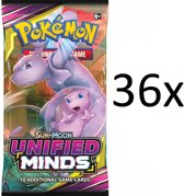 Pokemon - 36x losse Unified Minds Booster Box pakje - Pokémon kaarten