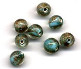 48 stuks Hand-made Jewelry Kralen - Rond - Transparant Turquoise