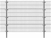 vidaXL Omheiningspaneel met palen 6x1.6 m antraciet