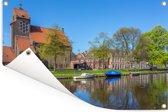 Zonnige dag in het Nederlandse Haarlem Tuinposter 90x60 cm - Tuindoek / Buitencanvas / Schilderijen voor buiten (tuin decoratie)