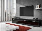 Meubella - TV Meubel Diana - Zwart - 200 cm
