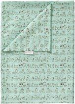 Cottonbaby Dekenhoes/dekbedovertrek ledikant dierprint groen