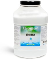 Epsom zout-Bitterzout - Magnesiumsulfaat - Badzout -Detox- 4,5 kg - in luxe pot