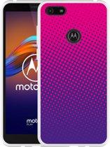 Motorola Moto E6 Play Hoesje roze paarse cirkels