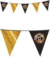 Sweet sixteen vlaggetjes 10 meter - 16 jaar slingers