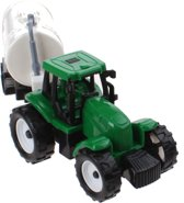 Free And Easy Tractor Met Gierton 18 Cm Wit