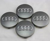 Audi naafdoppen grijs set van 4 - 4B0601170 - wieldoppen